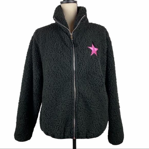 Jeffree Star APPROVED Faux Sherpa Jacket Black
